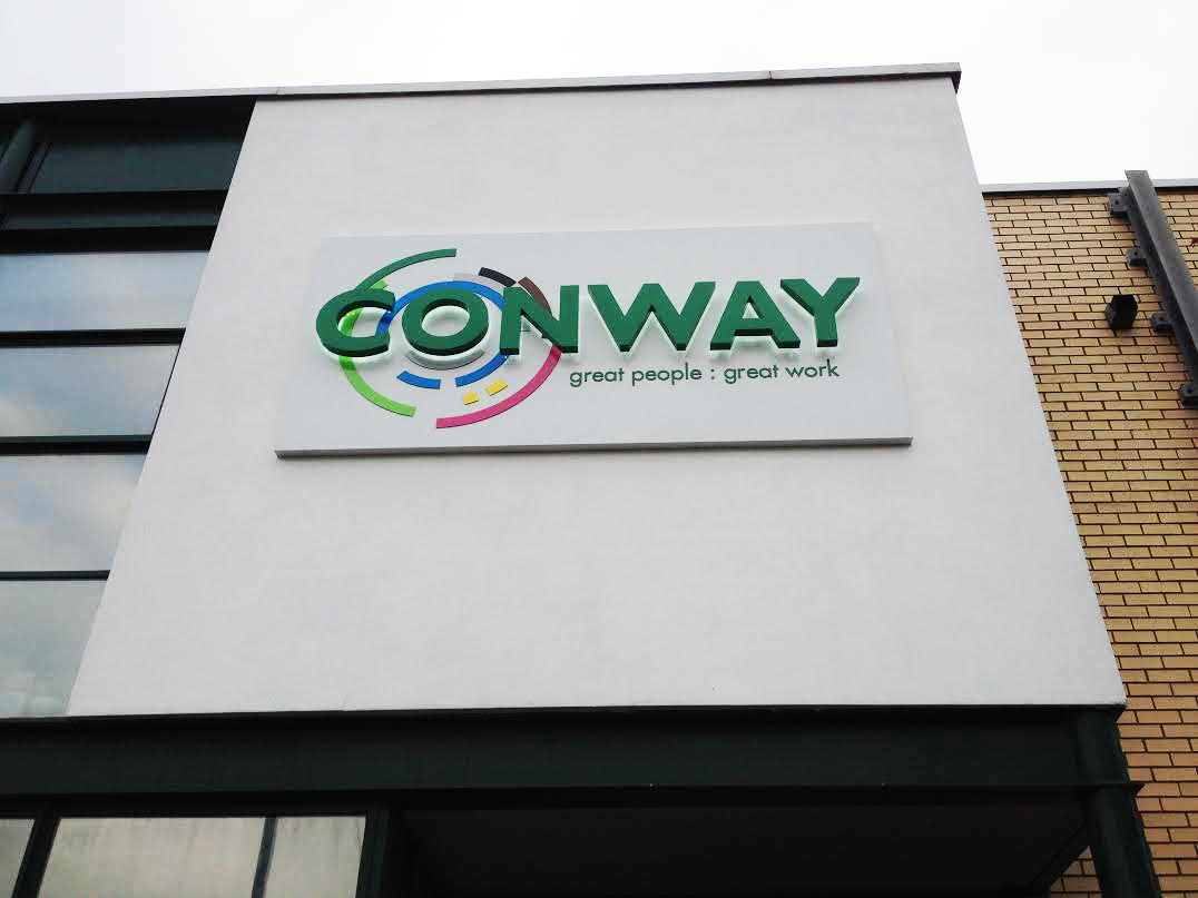 Large Illuminated Building sign for Conway